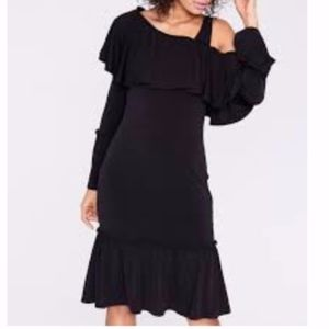 NWT Rachel Roy Nadine Ruffle Dress